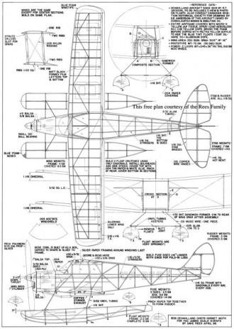 DH87b Hornet Moth model airplane plan