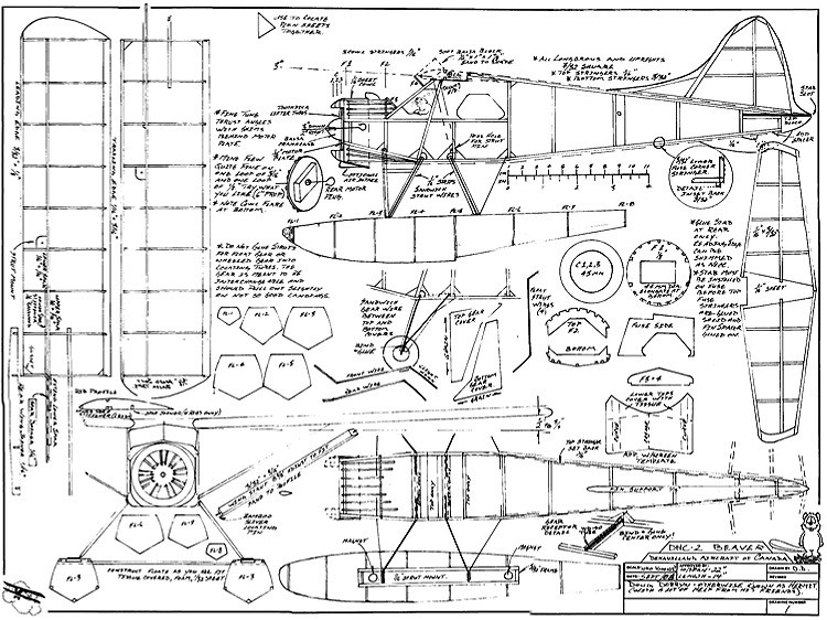 DHC-2 Beaver model airplane plan