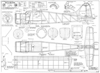 de Havilland DHC2 Beaver model airplane plan
