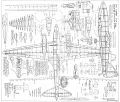 DH 88 Comet model airplane plan