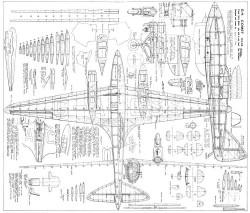 DH 88 Comet model airplane plan