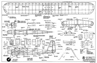 Dallaire Sportster RCM-1248 model airplane plan