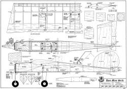 Das Min Stik 36in model airplane plan