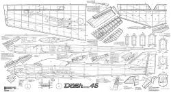 Dash Five 45 64in model airplane plan