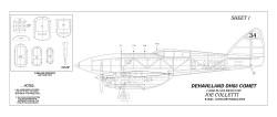 De Havilland D.H 88 Comet 60inch model airplane plan