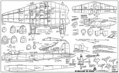De Havilland 103 Hornet RCM-933 model airplane plan