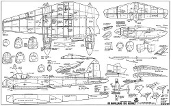 De Havilland 103 Hornet RCM-933 model airplane plan