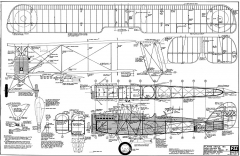 De Havilland DH-9a FSI model airplane plan