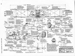 De Havilland DeH-4 model airplane plan