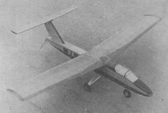 Delfin II model airplane plan