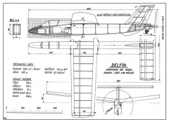 Delfin model airplane plan