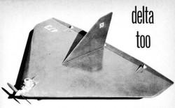 Delta-Too model airplane plan