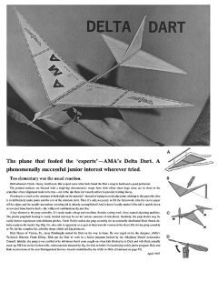 Delta Dart model airplane plan