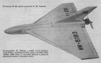 Delta H 20 model airplane plan