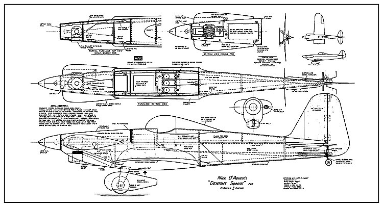 Denight Special AAM model airplane plan