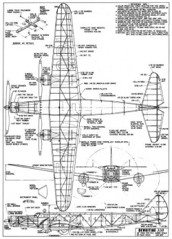 Dewoitine D.338 model airplane plan