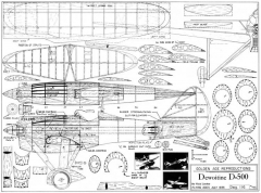 Dewoitine D-500 model airplane plan