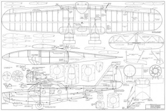 Dolphin 60in model airplane plan