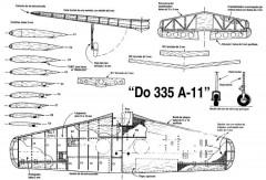 Dornier 335-A11 model airplane plan