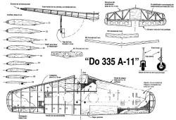 Dornier 335-A11 model airplane plan