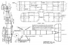Dornier D1 model airplane plan
