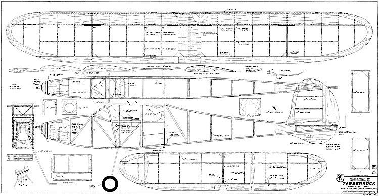 Double Jabberwock RCM-932 model airplane plan