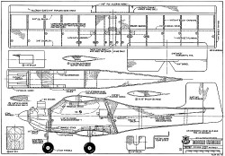 Double Trouble RCM-715 model airplane plan