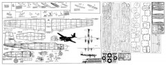 Douglas A-26 Invader model airplane plan