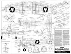 Douglas SBD Dauntless model airplane plan