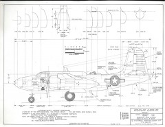 Douglas A-20G-30 model airplane plan