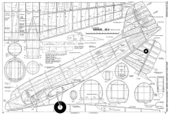 Douglas DC-3 model airplane plan