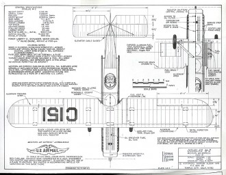 Douglas M-2 model airplane plan