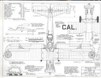 Douglas O-38 model airplane plan
