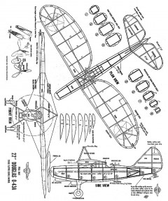 Douglas O43-A 22in model airplane plan