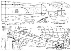 Douglas TBD-1 Booton model airplane plan