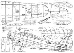 Douglas TBD-1 Booton model airplane plan