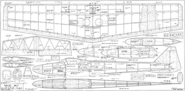 Duelist Mk2 69in model airplane plan