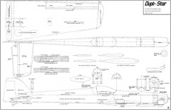 Dupli-Star 68in model airplane plan