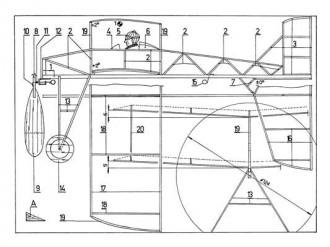 Dvouplosnik model airplane plan