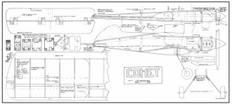 EEO Comet model airplane plan
