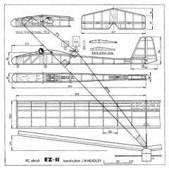 EZ-11 model airplane plan