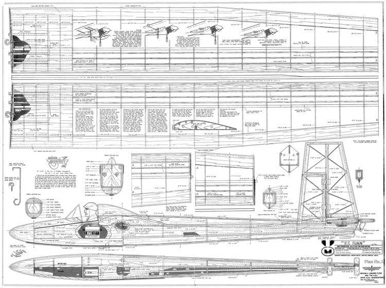 EZ Juan Glider model airplane plan