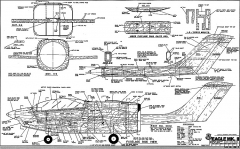 Eagle Mark 2 RCM-1159 model airplane plan