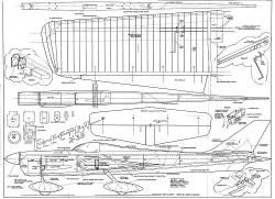 Electra X-35 model airplane plan