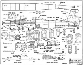 Electro Hog model airplane plan