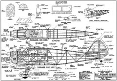 Elf Biplane Senior 60in model airplane plan