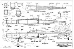 Elliptic 40 model airplane plan