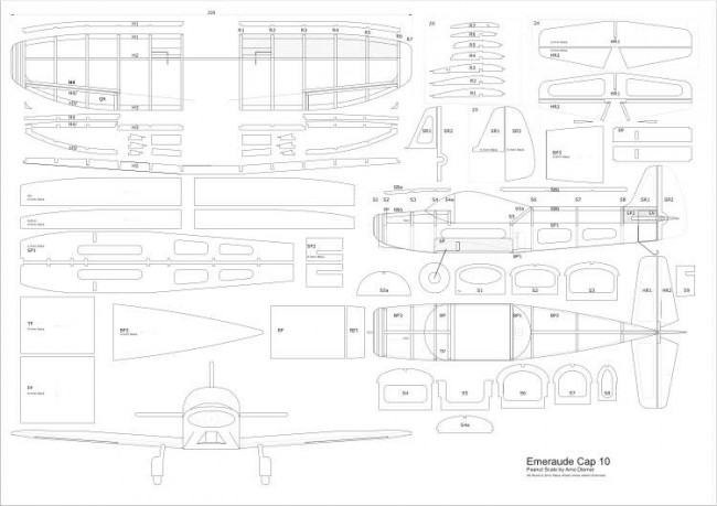 EmeraudeCap10-Peanut-Arno-Diemer-vec model airplane plan