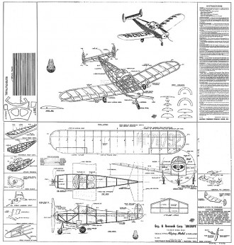 Ercoupe Whitman 16in model airplane plan