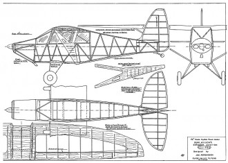 Explorer Ellipse  Rubber model airplane plan